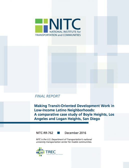 Developing a Model for Transit-Oriented Development in Latino Immigrant Communities: A National Study of Equity and TOD